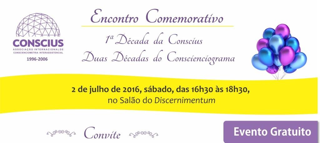 Comemoração dos 20 anos da publicação do Conscienciograma e 10 anos da Conscius